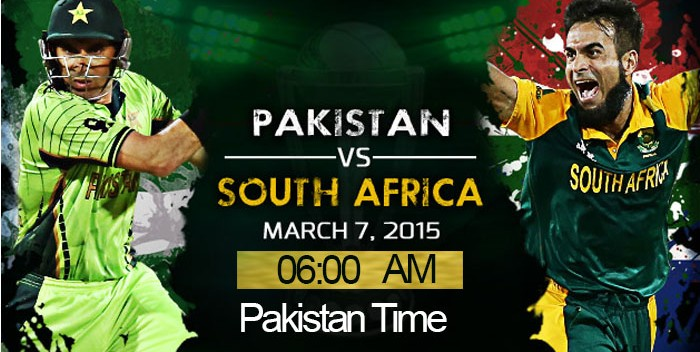 Pakistan Vs South Africa world cup 2015