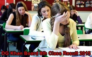 BISE DGK 8th Class Result 2015 DG Khan Board PDF Download