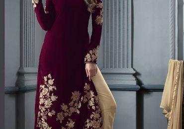 Pakistani Velvet Dresses 2020 Pics