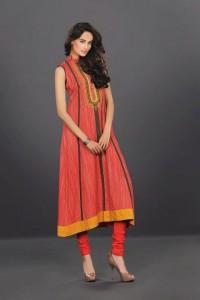 Latest Long Frocks with Churidar Pajama in Fashion 2015