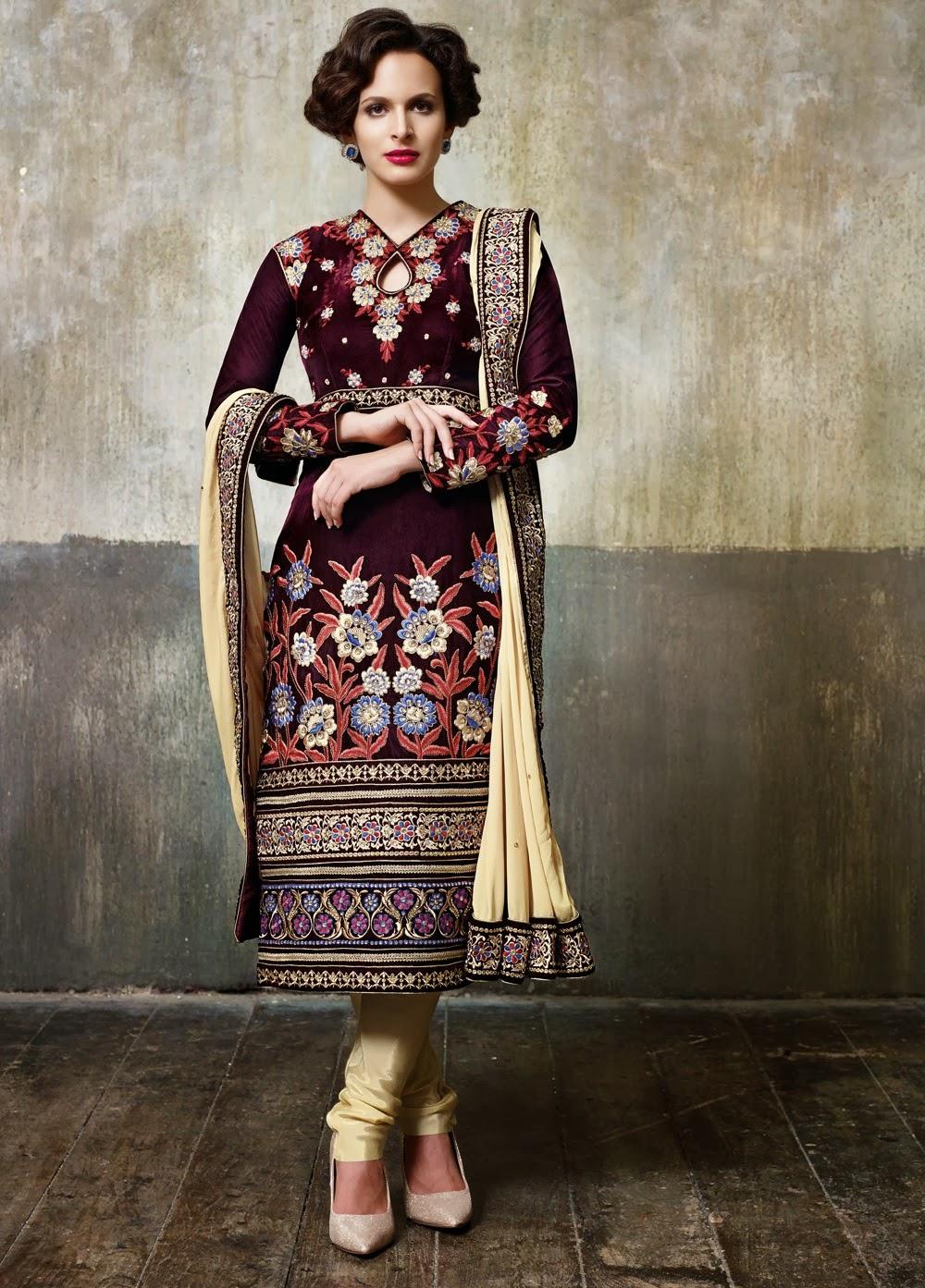 Pakistani velvet dresses 2018 pics for Velvet and lace wedding dresses