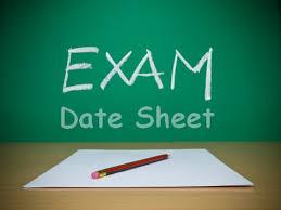 date sheet 2015