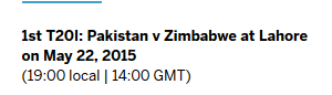 Pak vs Zim Live Score Card 2015 Dailymotion on PTV Sports