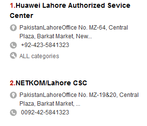 Huawei Customer Service Center Lahore Karachi