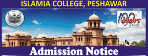 Islamia College Peshawar Merit List 2019 for 1st Year FSC FA Admission