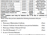 GCU Lahore 1st 2nd Merit List 2017 FA FSC ICOM