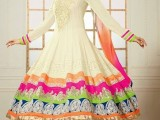 Design of Anarkali type outfit