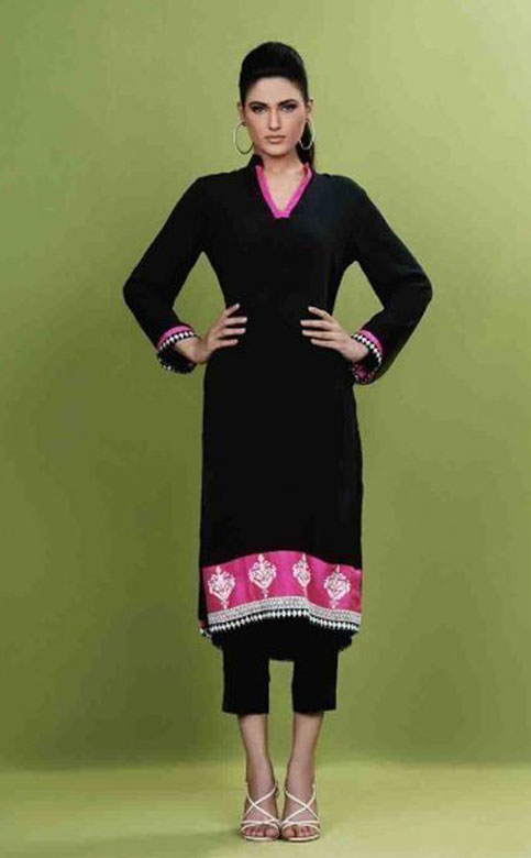 Pakistani Casual Dresses Designs 2018 Images-5076