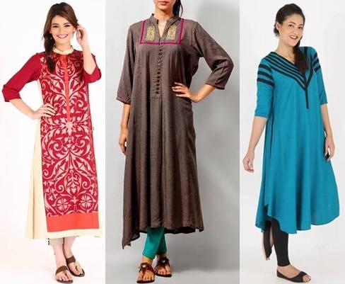 Pakistan ladies 2015 in kurta style Fashion World