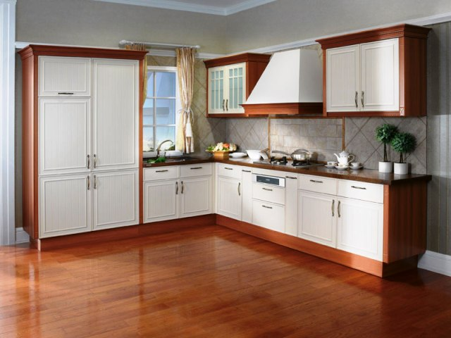 This Is A Traditional Design Of Kitchen Where At One Side There Is Washing  Area And On The Side One Places Other Things Easily.