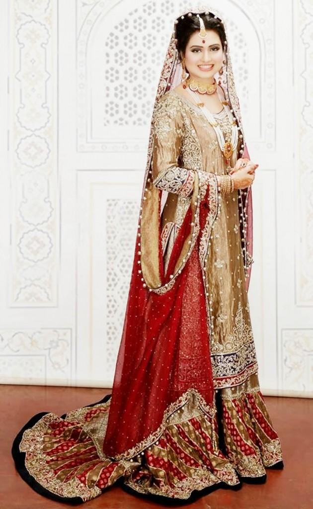 Latest Pakistani Bridal Wedding Dresses 2018 Pics For Brides