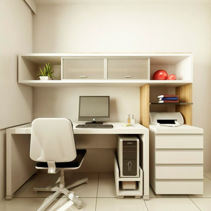 Home Design Ideas For Small Spaces: Home Office Decorating Design Ideas On A Budget For Small