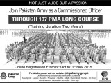 PMA Long Course 137 Online Registration 2015 Form Date Requirements for Join Pak Army