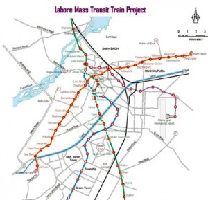 Orange Line Metro Train Lahore Route Map Station Schedule Timetable