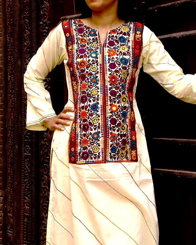 Sindhi embroidery patterns dresses designs 2016