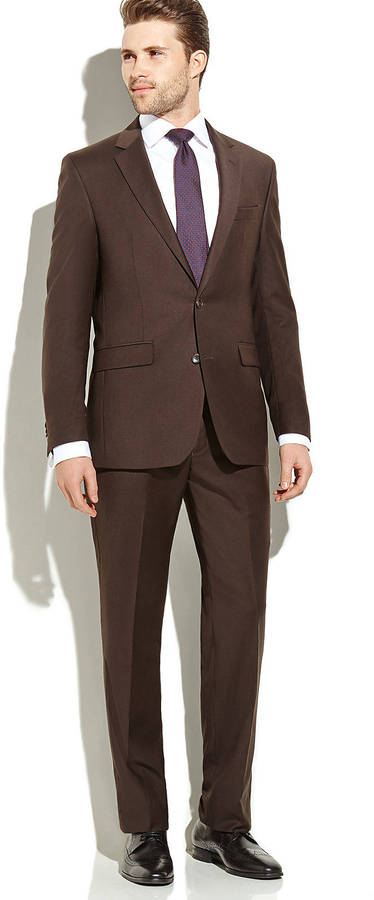 Dark Brown Men Suit