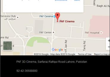 PAF Cinema Lahore Movie Schedule Show Timings
