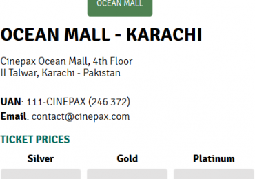 Cinepax Cinema Karachi Lahore Show Timings Movie Schedule Ticket Price