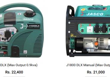 Jasco Generator 1 2.5 3 5 KVA Price in Karachi 2021