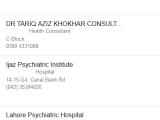 Best Female Male Psychiatrist in Lahore Psychiatric Doctor List
