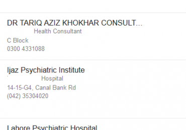 Best Female Male Psychiatrist in Lahore Psychiatric Doctor List