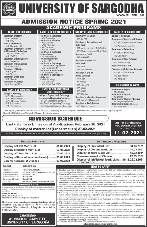 this new spring admission of UOS