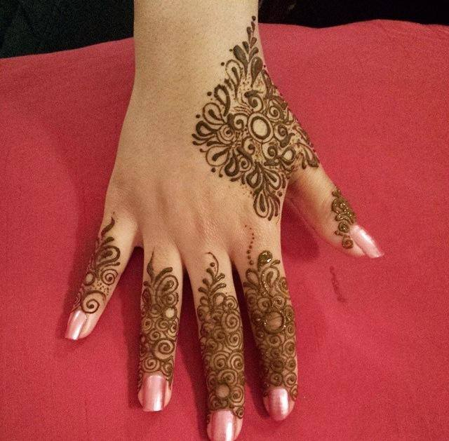 Latest Fingers Mehndi Designs : Finger mehndi designs new style simple