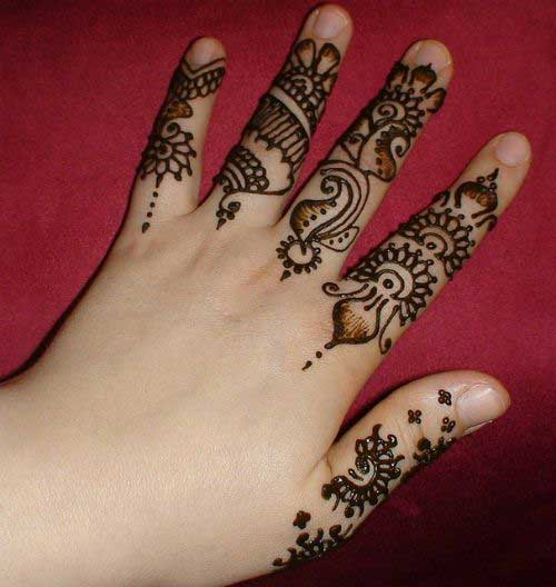 Mehndi Fingers Designs 2016 : Finger mehndi designs new style simple
