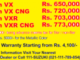 Suzuki Mehran New Shape 2018 Model Price in Pakistan
