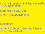 GCUF Fee Structure 2017 Schedule Government College University Faisalabad