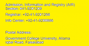 GCUF Fee Structure 2018 Government College University Faisalabad