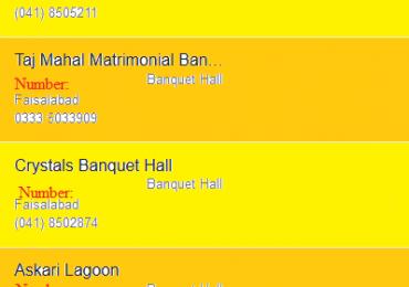 Best Banquet Marriage Halls in Faisalabad for Wedding