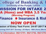 Hailey College of Banking BBA, MBA Entry Test Result 2017