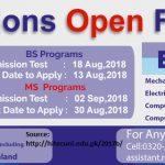 HITEC University Taxila Entry Test Result 2018