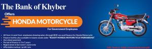 Bank of Khyber Motorcycle Scheme for Honda Bike Loan