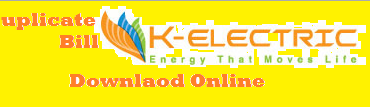 Kesc Duplicate Bill 2019 K electric Bill Print View Download Online