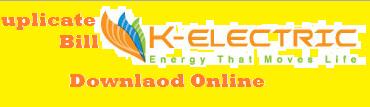 Kesc Duplicate Bill 2021 K electric Bill Print View Download Online