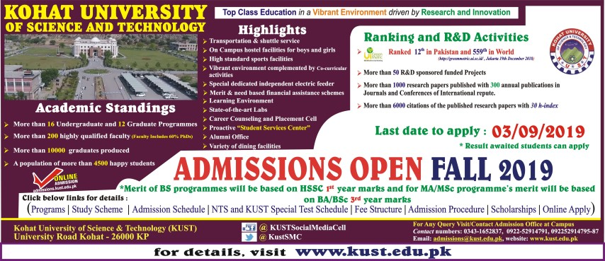 for the admission