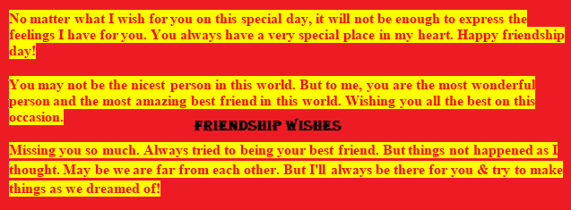 wishes for the friends